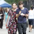 Keira Knightley et son fiancé James Righton à New York le 30 juillet 2012.