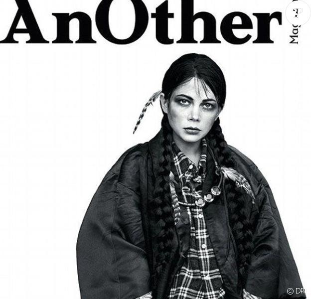 Michelle Williams en couverture de AnOther Magazine dans le numéro daté du printemps-été 2013.