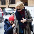 Michelle Williams et sa fille Matilda dans les rues de New York, le 6 mars 2013.