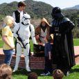 Tori Spelling a organisé une fête costumée dans le thème Star Wars pour les six ans de son fils Liam, à Los Angeles, le 16 mars 2013.