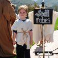 Tori Spelling a organisé une fête costumée dans le thème Star Wars pour les six ans de son fils Liam (photo), à Los Angeles, le 16 mars 2013.