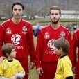 M. Pokora inaugurait sa première sélection sous le maillot du Variétés Club de France à Saint-Jean-Pied-de-Port face à l'équipe locale du FC Garazi le 17 mars 2013