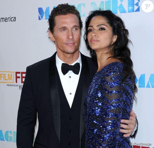 Camila Alves et Matthew McConaughey à la première du film 'Magic Mike' à Los Angeles, le 24 juin 2012.