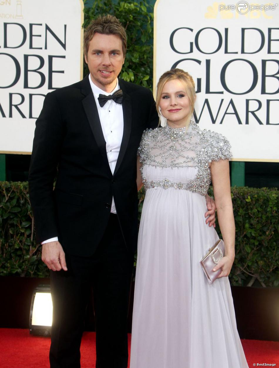 kristen bell et dax shepard la 70e soir e des golden globe awards beverly hills le 13. Black Bedroom Furniture Sets. Home Design Ideas