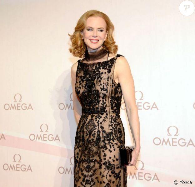 Nicole Kidman sur le tapis rouge du gala organisé par la marque Omega au Palais Liechtenstein à Vienne, en Autriche le 23 mars 2013.