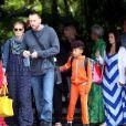 Heidi Klum, ses enfants et son chéri Martin Kirsten sont en vacances à Honolulu, le 25 mars 2013.