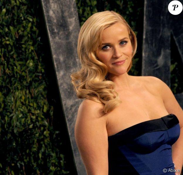 Reese Witherspoon lors de la soirée Vanity Fair post-Oscars le 24 février 2013