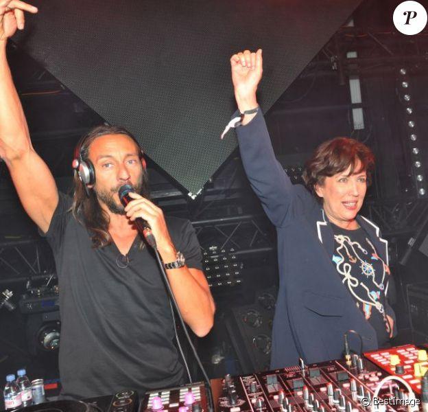 Roselyne Bachelot et Bob Sinclar - Lancement du nouvel album de Bob Sinclar intitulé Paris by Night à la Gaîté Lyrique à Paris le 2 avril 2013.