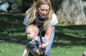 Hilary Duff : Son adorable fils Luca suit déjà les traces de son papa