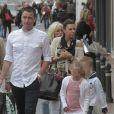 Exclusif - John Terry avec sa femme Toni et leurs jumeauxGeorgie John et Summer Rosea (6 ans) à Puerto Banus près de Marbella en Espagne le 22 mars 2013.