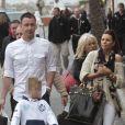 Exclusif - John Terry avec son épouse Toni et leurs jumeauxGeorgie John et Summer Rosea (6 ans) à Puerto Banus près de Marbella en Espagne le 22 mars 2013.