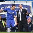 Rafa Benitez et John Terry à Stamford Bridge le 17 mars 2013.