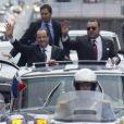 François Hollande et le roi Mohammed VI à Casablanca le 3 avril 2013.