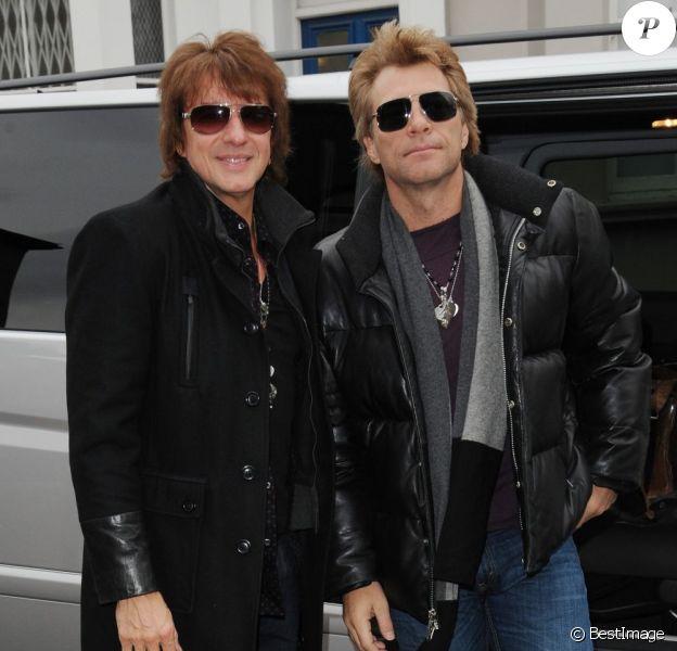 Exclu - Richie Sambora et Jon Bon Jovi arrivent à un studio d'enregistrement à Londres, le 25 janvier 2013.