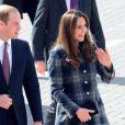 Kate Middleton et le prince William, connus sous le titre de comte et comtesse de Strathearn en Ecosse, sont arrivés le 4 avril 2013 au matin à Glasgow pour une visite de deux jours.