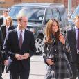 Kate Middleton et le prince William, qui portent en Ecosse le titre de comte et comtesse de Strathearn, visitaient le 4 avril 2013 l'Emirates Arena à Glasgow, qui accueillera les prochains Jeux du Commonwealth en 2014, lors de leur visite de deux jours.