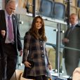 La duchesse Catherine de Cambridge et le prince William, qui portent en Ecosse le titre de comte et comtesse de Strathearn, visitaient le 4 avril 2013 l'Emirates Arena à Glasgow, qui accueillera les prochains Jeux du Commonwealth en 2014, lors de leur visite de deux jours.