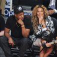 Jay-Z et Beyoncé lors du NBA All-Star Game à Houston, le 17 février 2013.
