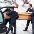Obsèques d'Élisabeth de Gaulle, décédée à l'âge de 88 ans. La cérémonie a eu lieu en la cathédrale Saint-Louis des Invalides à Paris. Elle était la fille du Général Charles de Gaulle et a été la Présidente de la Fondation Anne de Gaulle de 1979 à 1988. A Paris le 6 avril 2013.