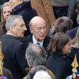 Valéry Giscard d'Estaing - Obsèques d'Élisabeth de Gaulle, décédée à l'âge de 88 ans. La cérémonie a eu lieu en la cathédrale Saint-Louis des Invalides à Paris. Elle était la fille du Général Charles de Gaulle et a été la Présidente de la Fondation Anne de Gaulle de 1979 à 1988. A Paris le 6 avril 2013.
