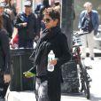Halle Berry enceinte se promène dans les rues de New York. Le 7 avril 2013.
