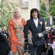 Ronnie Wood et sa femme Jo au mariage de leur fille Leah en Juin 2008