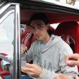Javier Pastore quitte le Camp des Loges à Saint-Germain-en Laye à bord de sa belle Chevrolet Camaro, le 8 avril 2013