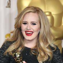 Adele à Hollywood le 24 février 2013.