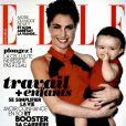 Alessandra Sublet pose avec sa fille Charlie en couverture du magazine Elle le 12 avril 2013