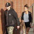 Nicole Richie, Joel Madden et leurs deux enfants Harlow et Sparrow profitent d'un après-midi en famille à Los Angeles, le 16 avril 2013.