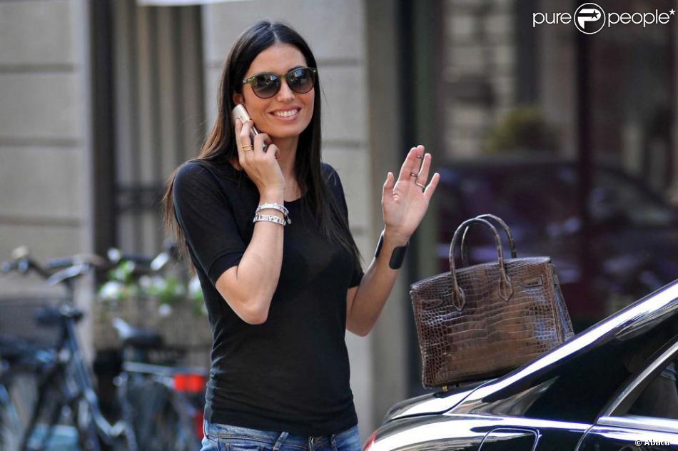 Elisabetta Gregoraci, heureuse à Milan le 18 avril 2013