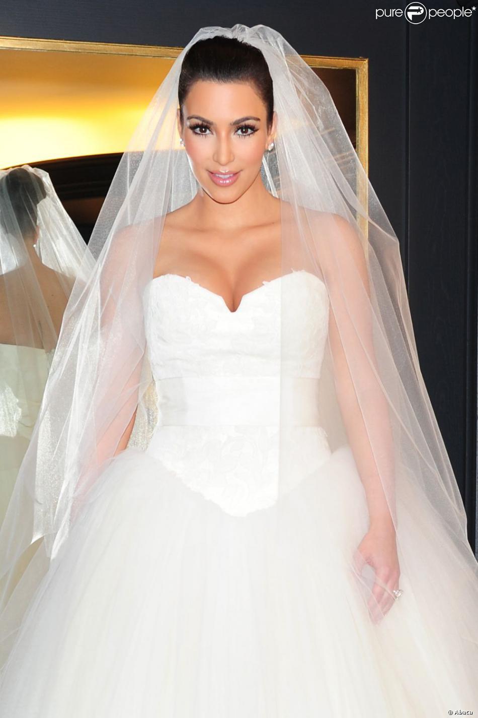 kim kardashian et sa robe de mari e vera wang new york