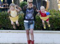 Tori Spelling : Sortie au parc avec ses filles, son look laisse à désirer