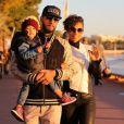 Alicia Keys, Swizz Beatz et leur fils Egypt à Cannes pour assister aux NRJ Music Awards. Le 28 janvier 2013.