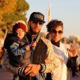 Alicia Keys, Swizz Beatz et leur petit garçon Egypt à Cannes pour assister aux NRJ Music Awards. Le 28 janvier 2013.