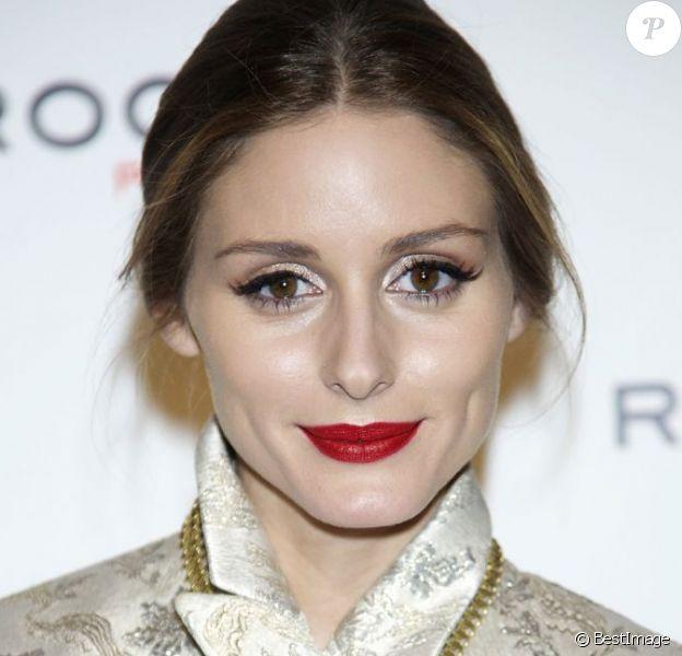 Olivia Palermo assiste à une soirée organisée par Rochas à l'ambassade de France à Madrid. Le 24 avril 2013.