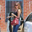 Orlando Bloom et le mannequin australien Miranda Kerr emmènent leur fils Flynn dans un centre de jeux à West Hollywood, Los Angeles, le 25 avril 2013.