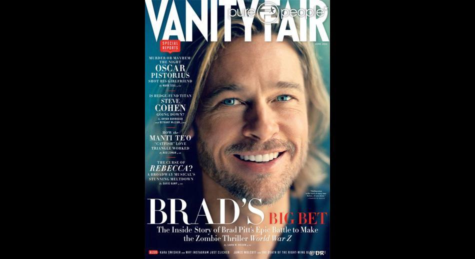 Brad Pitt en couverture du prochain numéro de Vanity Fair.