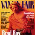 Brad Pitt fait sa première couverture du Vanity Fair en février 1995.