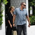 Le top Heidi Klum et son compagnon Martin Kirsten sont allés déjeuner au restaurant Cecconi à Beverly Hills. Le 30 avril 2013.