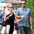 Le mannequin Heidi Klum et son compagnon Martin Kirsten sont allés faire du shopping à Beverly Hills. Le 30 avril 2013.