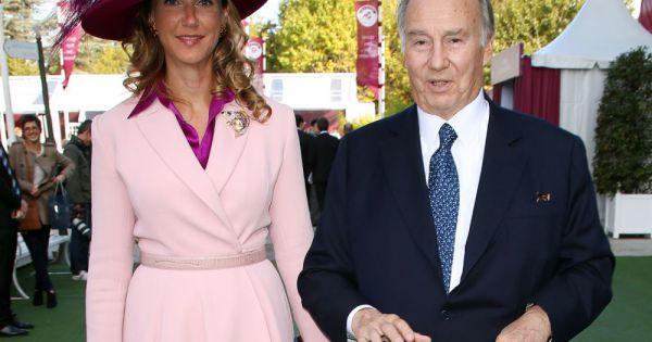 Le Prince Karim Aga Khan Et La Comtesse Beatrice Von Der