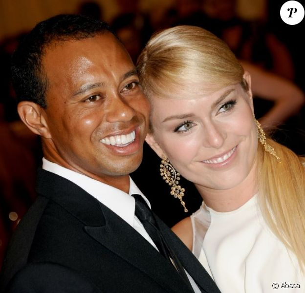 Tiger Woods et Lindsey Vonn, amoureux lors du Met Ball organisé au Metropolitan Museum of Art de New York le 6 mai 2013