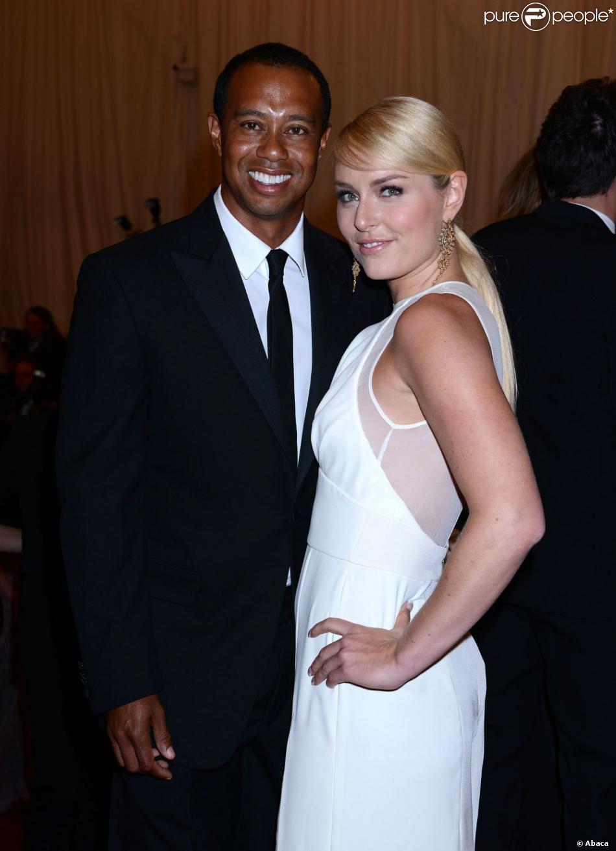 Tiger Woods et Lindsey Vonn lors du Met Ball organisé au Metropolitan Museum of Art de New York le 6 mai 2013
