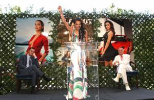 Playboy : Hugh Hefner sous le charme de Raquel Pomplun, playmate de l'année