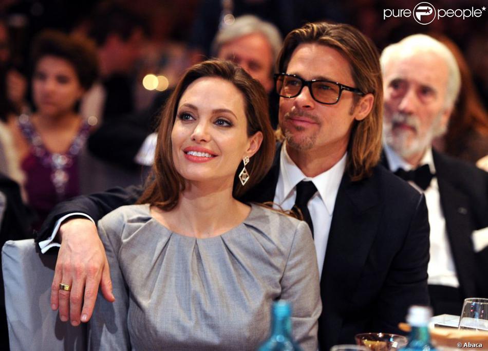 Angelina Jolie et Brad Pitt lors du Festival de Berlin le 13 février 2012