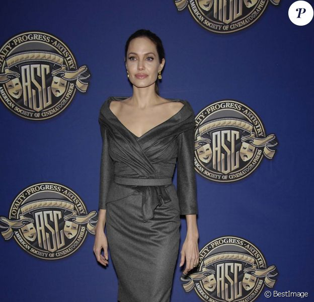 Angelina Jolie à la 27e cérémonie des 'American Society of Cinematographers Awards' à Los Angeles, le 10 février 2013.