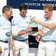 Le prince Harry a mené son équipe à la victoire lors du tournoi Sentebale Royal Salute Polo Cup à Greenwich, Connecticut, le 15 mai 2013 lors de sa visite officielle d'une semaine aux Etats-Unis.