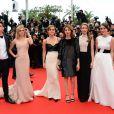Emma Watson, Claire Julien, Sofia Coppola, Israel Broussard, Taissa Farmiga, Katie Chang arrivent à la montée des marches du film The Bling Ring pour l'ouverture d'Un Certain Regard au Festival du film de Cannes, le 16 mai 2013.