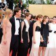 Emma Watson, Claire Julien, Sofia Coppola, Israel Broussard, Taissa Farmiga, Katie Chang arrivent pour la montée des marches du film The Bling Ring pour l'ouverture d'Un Certain Regard au Festival du film de Cannes, le 16 mai 2013.